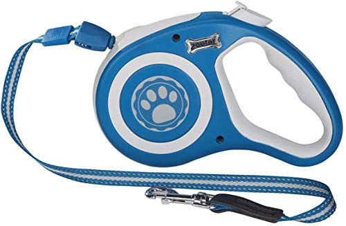 Zoofari Hundeleine Ausziehleine Rollleine Hunde Laufleine max 5 Meter Mit Aufrollfunktion Stopp und Arretierungstaste (Blau)
