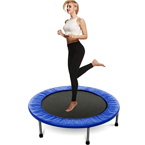 Hosmat Mini Exercise Trampoline for Adults or Kids - Indoor Fitness Rebounder...