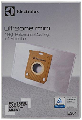 Electrolux ES 01 Originalstaubbeutel für AEG und UltraOne mini+4 Staubbeutel Synthetik, 1 Motorfilter