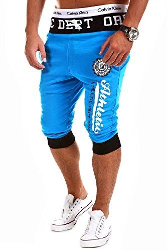 MT Styles Sweat-Shorts Kontrast Jogginghose MT-11 [Türkis, XL]