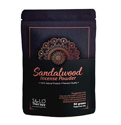 Sandalwood Incense Powder 50 Grams , Premium Quality , 100% Natural , Sacred Space, Natural Incense, Loose Incense , Product from India , Packaged in The USA (Sandalwood Incense Powder)