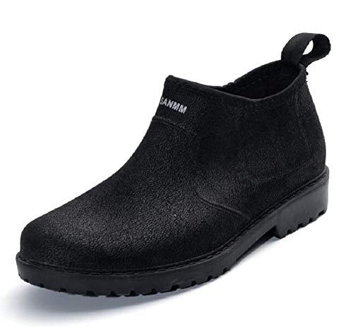 [クロ&アーダー] メンズ レイン シューズ 黒 雨靴 カジュアル 靴 男性 用 長靴 通勤 通学 くろ ストラップ 軽い 軽量 防水 撥水 スニーカー ショート ブーツ くろ 色 ハイカット おしゃれ オシャレ お洒落 カッコイイ かっこいい ビジネス