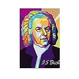 Johann Sebastian Bach Hochformat, moderne Kunst-Poster,