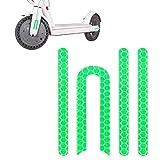 Atuka Etiqueta Reflectante Etiqueta Delantera y Trasera Rueda Etiqueta de Goma Verde para Xiaomi Mijia M365 Etiqueta Scooter Piezas de Repuesto