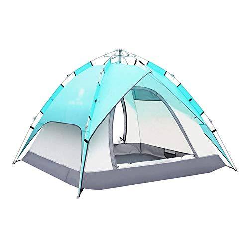 El nuevo Tienda de campaña CAMPINACIÓN CAMINA AUTOMÁTICA Tienda de excursiones al aire libre Polo de fibra de vidrio Cuello de viento Resistencia al sol impermeable Tiendas de resistencia para el send