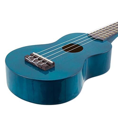 Mahalo Kahiko ukelele Soprano 2500 Series, azul