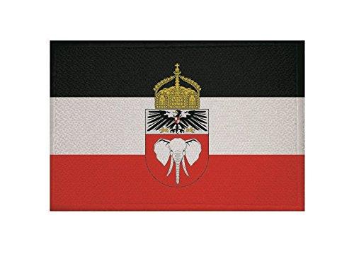 U24 Aufnäher Deutsch Kamerun mit Krone Fahne Flagge Aufbügler Patch 9 x 6 cm