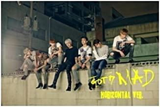 GOT7 - [ MAD ] Mini Album HORIZONTAL.Ver CD + Photocard + Booklet + Folded Poster + Extra Photocard Gift