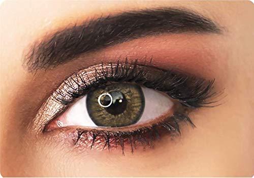 ADORE Farbige kontaktlinsen Lenses - PEARL - 3 Monaten- ohne Stärke + gratis Kontaktlinsenbehälte… (brau)