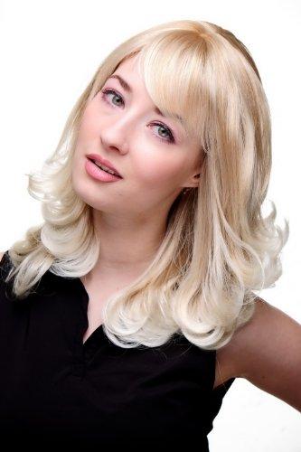 WIG ME UP - 3019-27T613 Damen Perücke blond gewellte Spitzen halblang