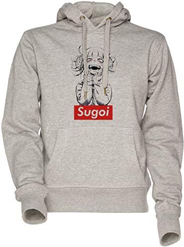 Sugoi himiko - Boku No Hero Academia Unisexo Hombre Mujer Sudadera con Capucha Gris Men's Women's Hoodie Sweatshirt Grey