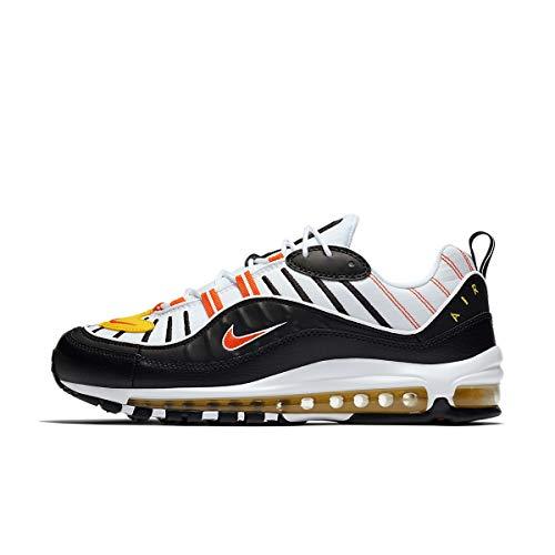 Nike, Air Max 98, scarpe da atletica leggera, multicolore, numero: 41, Uomo, 4786_16045, bianco, nero, arancione, giallo., 43 EU