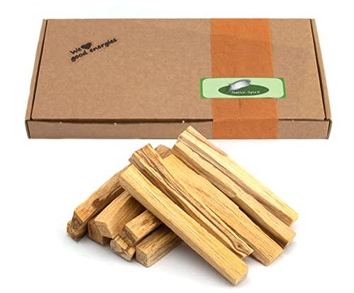 Palo Santo Räucherhölzer 12 Stk feine Stäbe je ca. 5 g 100mm lang Heiliges Holz aus Peru 100% natürlich