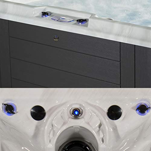 Essential Hot Tubs 100-Jet Calypso Hot Tub, Seats 6-7, Gray