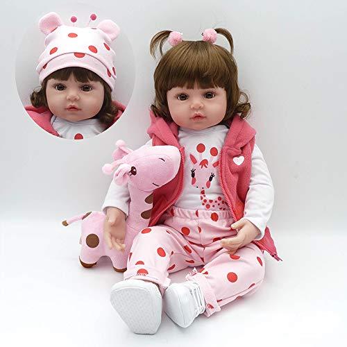 Nicery Muñeca Reborn 20-22 Pulgadas 52-55cm Juguetes de Silicona Suave para Niños y Niñas Cumpleaños 55258w Reborn Baby Doll