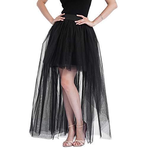 FAMILIZO Faldas Largas Y Elegantes Faldas Cortas Mujer Verano Faldas Mujer Invierno Primavera Vestidos Mujeres De Malla Sólida Tul Falda Princesa Falda Malla Burbuja Falda Partido Falda
