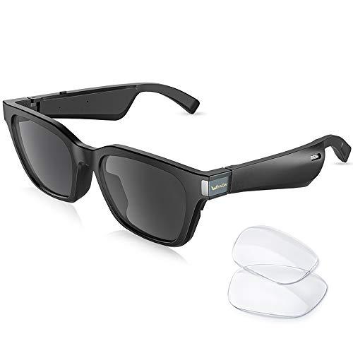 【2020 Lastest】 Gafas de sol inteligentes Hombre Auriculares inalámbricos Auriculares Bluetooth Música y llamadas con micrófono Deportes al aire libre Auriculares Bluetooth