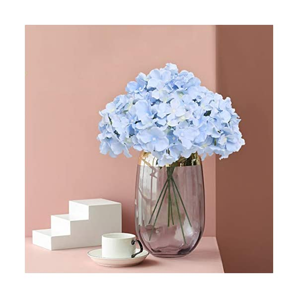 Tifuly 12 Pcs Hortensias Artificiales, Hortensias de Seda Cabezas de Flores con Tallos Flores Falsas para Ramos de Novia…