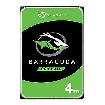 Seagate BarraCuda 4 TB Internal Hard Drive HDD – 3.5 Inch SATA 6 Gb/s 5400 RPM 256 MB Cache for Computer Desktop PC Laptop (ST4000DM004)
