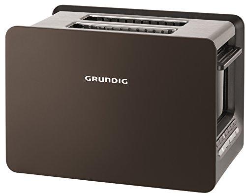 Grundig TA 7280 G Toaster 2-Schlitz mit Bräunungsgradeinstellung, Grey Sense