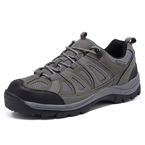 EYUSHIJIA Mens Waterproof Hiking Boot Outdoor Breathable High-Traction Grip Shoes Gray 8