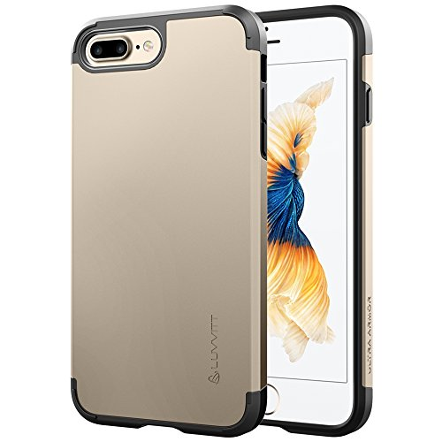 Luvvitt Ultra Armor iPhone 7 Plus/iPhone 8 Plus Case with Dual Layer Heavy Duty Protection and Air Bounce Technology for Apple iPhone 7 Plus (2016) / iPhone 8 Plus (2017) - Gold