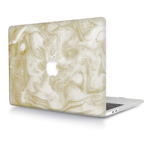ACJYX Hard Case Compatible with MacBook Air 13 Retina 2020 2019 2018 Release A2337 M1 A2179 A1932, Protective Plastic Hard Shell Case for Mac Air 13 with Touch ID - Marble