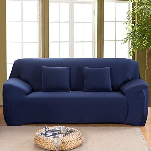 Funda de sofá de Color sólido para Sala de Estar Blanca como la Nieve Funda de sofá elástica a Prueba de Polvo Funda de sofá Toalla de sofá elástica A19 3 plazas