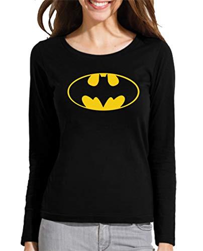 Camiseta Manga Larga de Mujer Batman Robin Joker DC Gotham 001 M