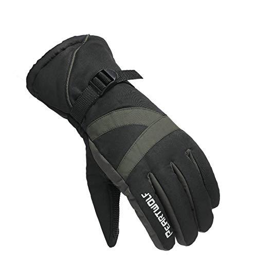 Gnzoe Handschuhe für Herren Skihandschuhe Wasserdicht Warm Baumwolle Handschuhe One Size Armee Grün