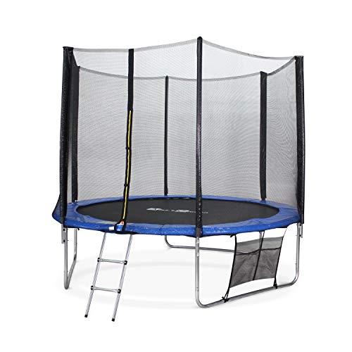 Alice's Garden - Cama elástica, Trampolin de 305 cm, (estructura reforzada). Inluye: escalera + funda protectora + bolsilla para zapatos - MARS XXL