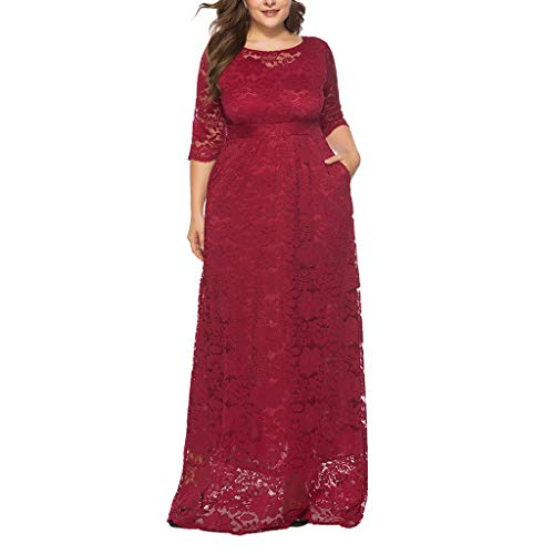 Vestido Encaje Mujer Fiesta Elegante Largos POLP Talla