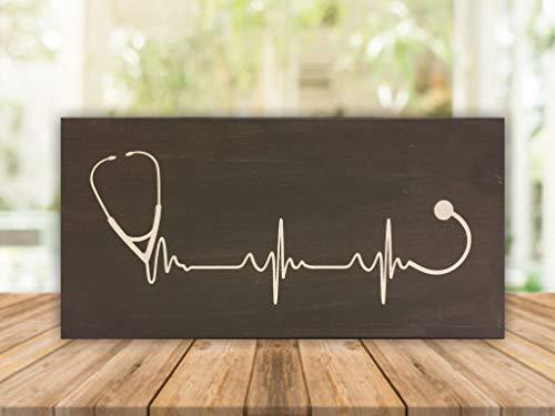 """Nurse lifeline - 6""""x12"""" wood sign"""