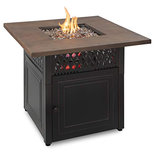 """Endless Summer Dual Heat 2 in 1 Propane Fire Pit & Outdoor Heater Donovan   41,000 Total Combined BTU   38"""" Outdoor Patio Propane Heater & Fire Pit   Converts to an Outdoor Table with Heaters"""