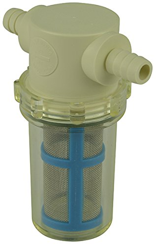 "3/8"" Hose Barb in-Line Strainer with 50 mesh Stainless Steel Filter Screen"