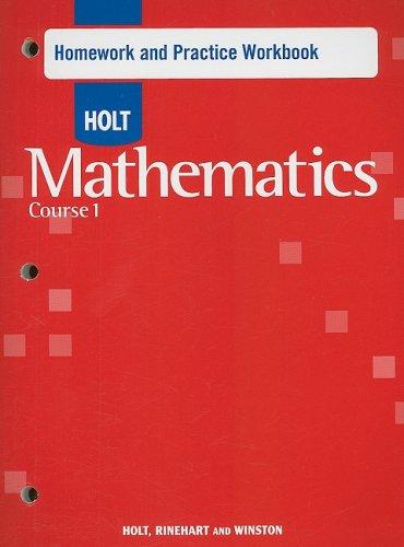 Holt Mathematics: Homework Practice Workbook Course 1