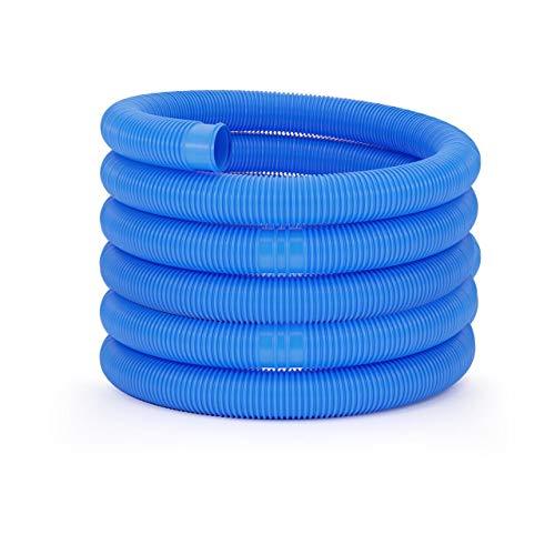Uniprodo Uni_Pool_Hose_38/9 Poolschlauch 38mm blau Schwimmbadschlauch 9 m Schwimmbeckenschlauch Solarschlauch
