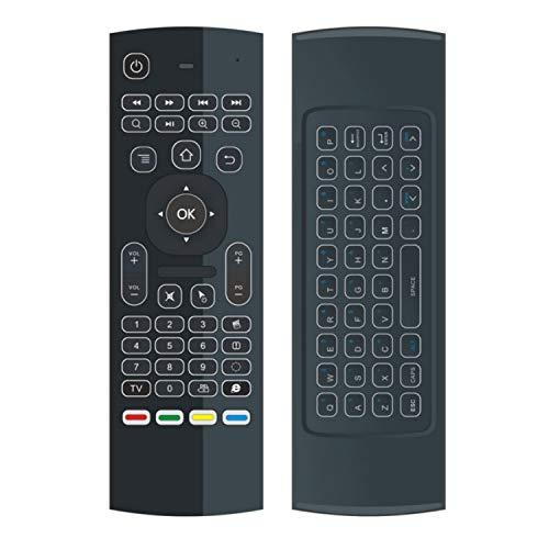 Camisin MX3 - Ratón de aire retroiluminado con control remoto inteligente 2.4 G RF teclado para TV Box Android X96 KM9 A95X H96 MAX