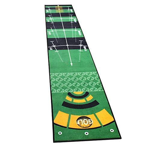 SISHUINIANHUA Golf Mini Tapis Putting Pratique de Boule Tapis Tapis Intérieur Extérieur Lavable Anti-Slip Pratique Green Golf Putting Mat