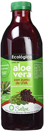 Saloe Jugo Aloe Vera y Uva Ecológico - 3 Recipientes de 1000 ml - Total: 3000 ml