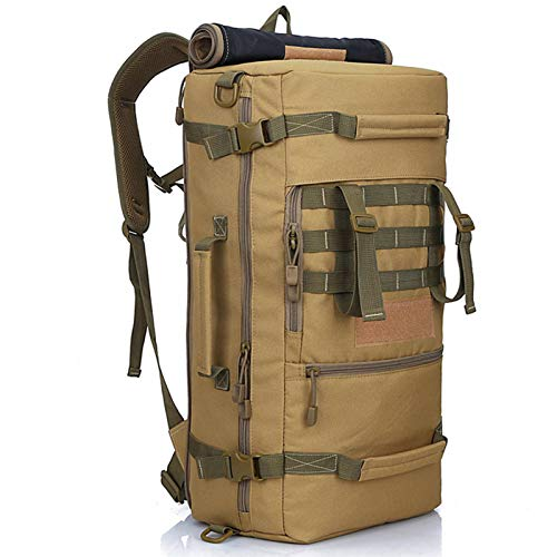 N-B 50L Large Capacity Mountaineering Bag Men's Large Capacity Outdoor Travel Backpack Camping Luggage Rucksack Double Classic Shoulder Bag