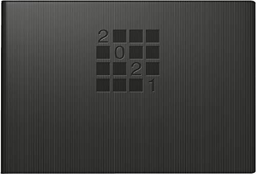 rido/idé 7017561901 Taschenkalender Septimus, 2 Seite = 1 Woche, 152 x 102 mm, Papier-Einband Linea schwarz, Kalendarium 2021