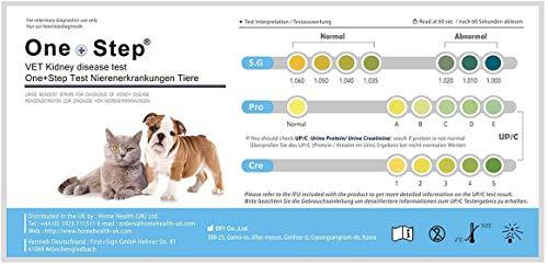 One+Step 2 Stück Gesundheitstest für Katzen und Hunde - Nieren-Check