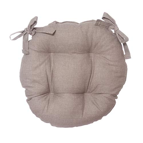 Cuscino sedia tondo Basik tortora in cotone e poliestere, da 40x40 cm Tortora