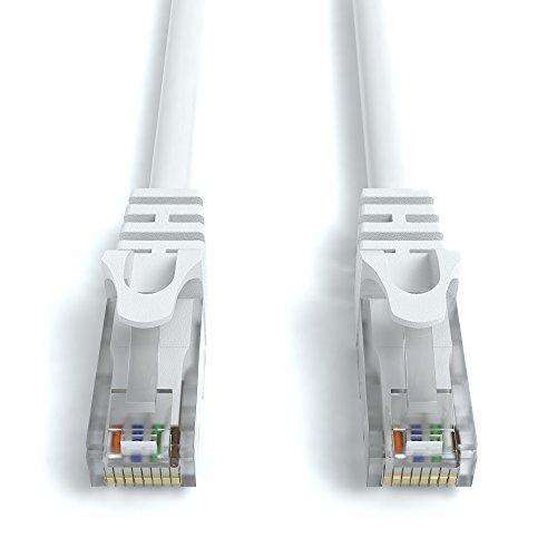 30m CAT.6 Netzwerkkabel (RJ45) Patchkabel Ethernet LAN in weiß| 1Gbit/s | 250MHz | kompatibel zu CAT.5 / CAT.5e / CAT.6 | von JAMEGA