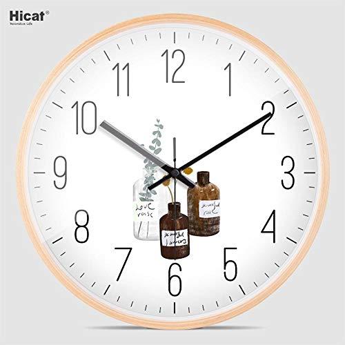 Wanduhr 16-Zoll-Silent-Wanduhr Nordic Creative Household Quartz Watch Taschenuhr Schlafzimmer Wohnzimmer Kinder Digital Acryl 4