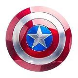 Getrichar Escudo Capitán América Escudo Aluminio Montaje en Pared Decoración Cosplay Accesorios de Superhéroe Disfraz Retro Halloween Adulto Niño Niño Cosplay Juguete 22 Pulgadas