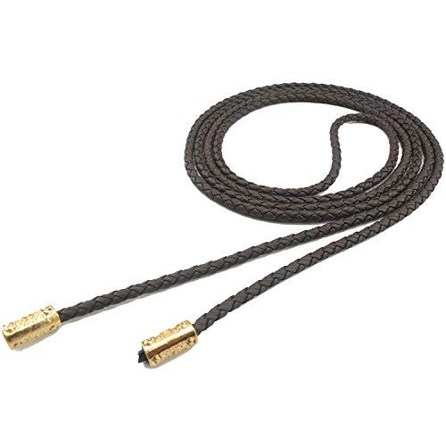 160Cmrope vrouwelijke riem Cinturones afslanken geweven ketting taille riemen voor vrouwen jurken J109-koffie-160cm