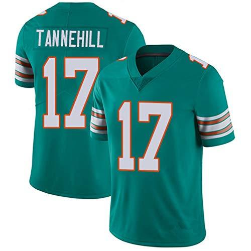 POAA Ryan Tannehill 17 Miami Dolphins Rugby Kleidung Herren Damen, Student Herren Fußball Trikot Anhänger Sportswear S-3XL-blue-M