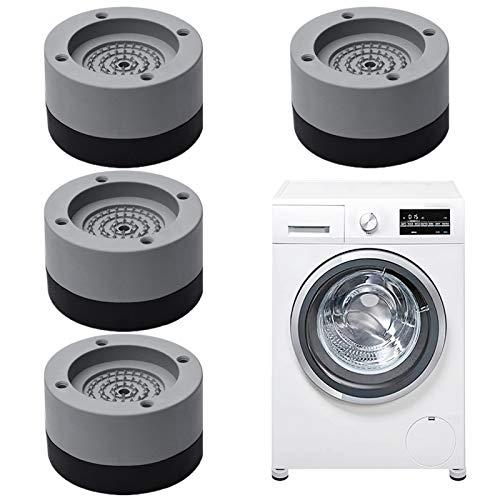 Xionghonglong 4 Stück Waschmaschine Fußpolster,Vibrationsdämpfer,Anti Vibration Waschmaschine Füße,Verstellbares Gummi-Fußpolster,Vibration Dämpfer Pads,Anti-Walk-Fußpolster für Waschmaschin